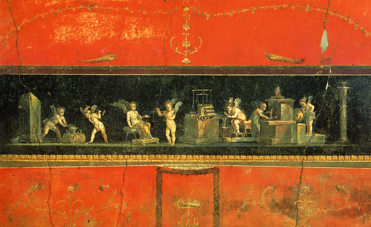 house of the vetti and house Fresco of priapus from pompeii depicts problematic genitalia  one of those frescoes, of minor god priapus from the house of the vettii,.