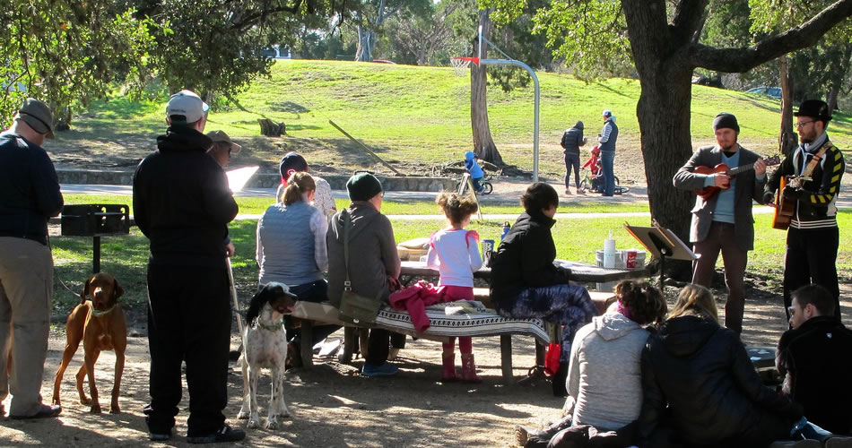 Sundaysong Singalong at Little Stacy Park, 1/4/15